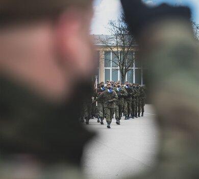 Przysięga wojskowa w 4WMBOT