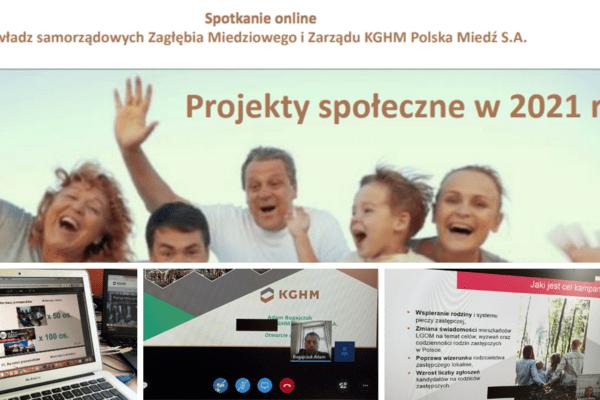 KGHM i samorządy rozwiązują problemy społeczne mieszkańców Zagłębia Miedziowego - spotkanie online