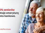 Co czwarty ROR zakładany w Banku Pocztowym to Konto dla seniorów.  Seniorzy coraz bardziej ubankowieni – według danych ZUS 75% pobiera emeryturę na rachunek bankowy