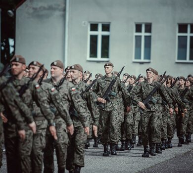 Przysięga wojskowa w Słupsku.