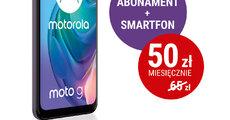 W Play płacisz mniej – abonament i smartfon już za 50 złotych miesięcznie - plakat Motorola.jpg