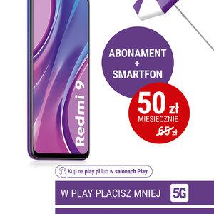 W Play płacisz mniej – abonament i smartfon już za 50 złotych miesięcznie - plakat Xiaomi
