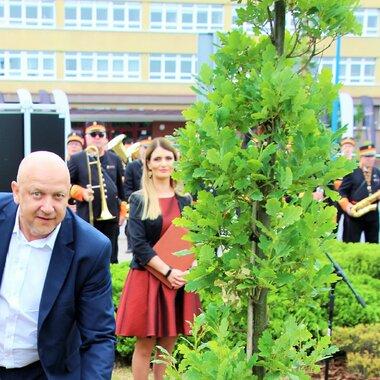 Wiceprezes KGHM podczas uroczystości w HMG