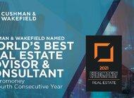 """Cushman & Wakefield czwarty rok z rzędu najlepszą firmą doradczą świata według magazynu """"Euromoney"""""""