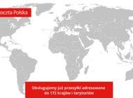 Poczta Polska obsługuje już przesyłki adresowane do ponad 172 krajów i terytoriów