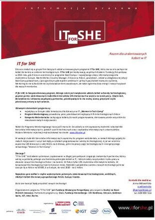 IT for SHE - informacja prasowa.pdf