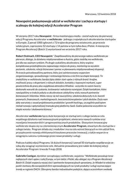 weXelerate otwiera etap aplikacyjny dla trzeciej edycji.pdf