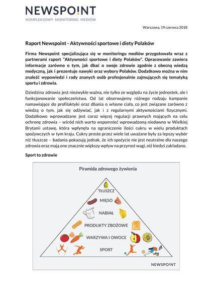 Raport Newspoint - Aktywności sportowe i diety Polaków.pdf