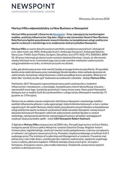 Mariusz Mika wzmacnia dział sprzedaży Newspoint.pdf