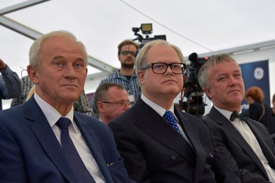 Ostrołęka minister K_Tchórzewski, prezes Energi A_Siwko, Prezydent Ostołeki Jausz Kotowski