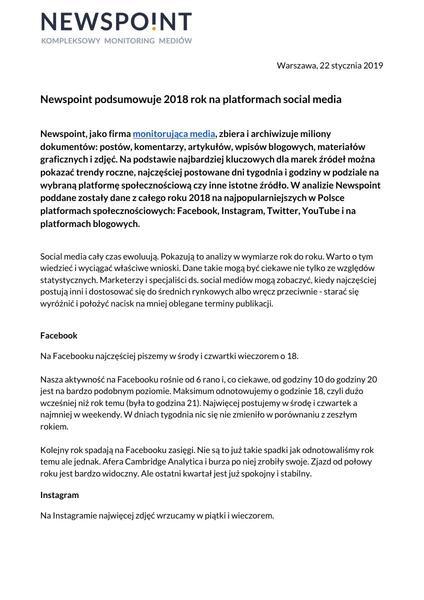 Newspoint podsumowuje 2018 rok w social mediach.pdf