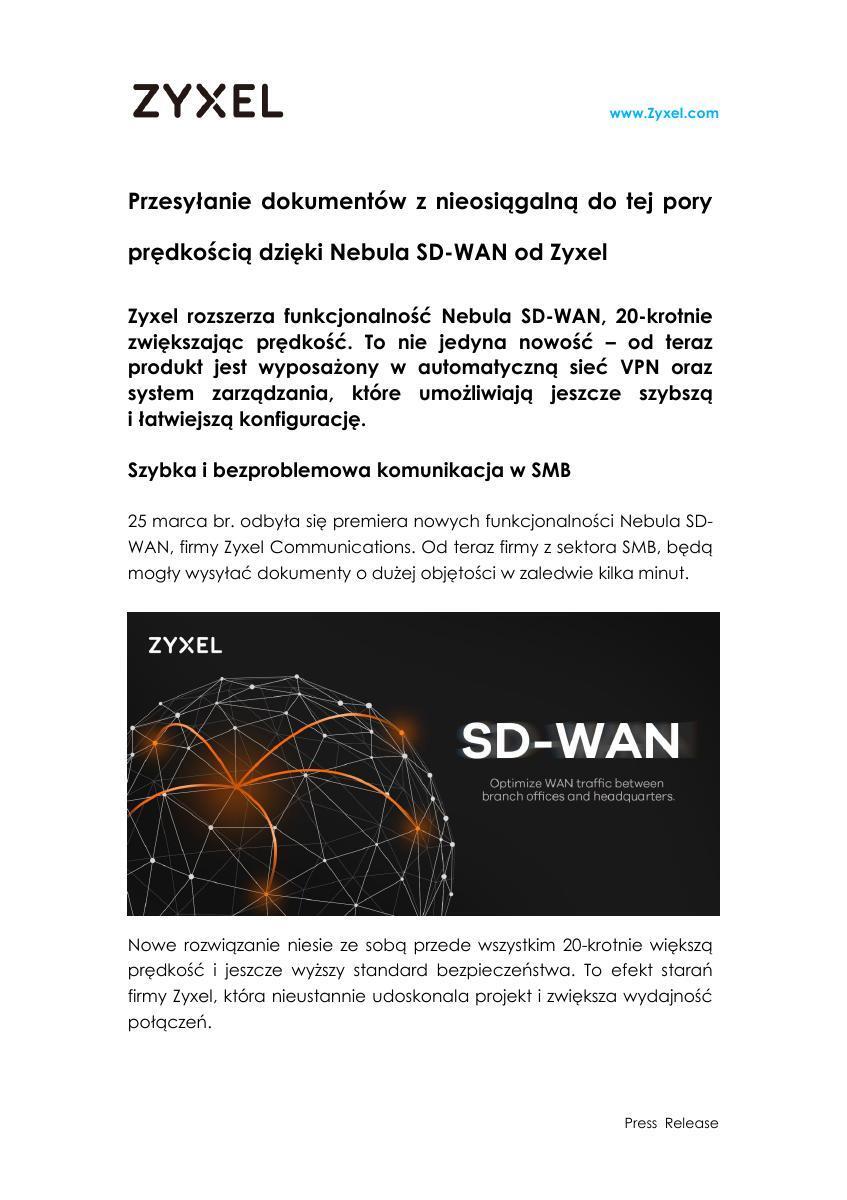 Zyxel PR_Nebula SD-WAN_WAN optimization_final.pdf