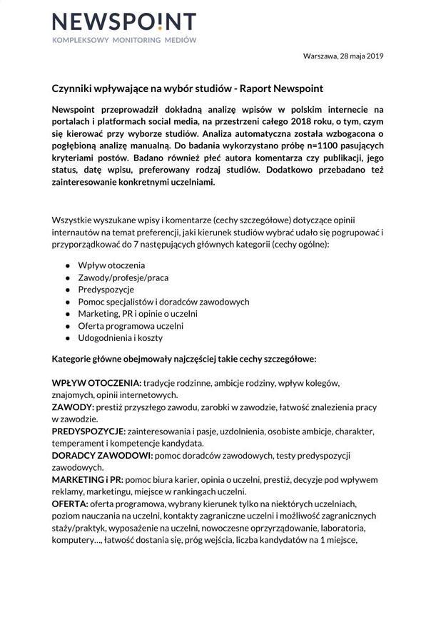 Raport o czynnikach wpływających na wybór studiów.pdf