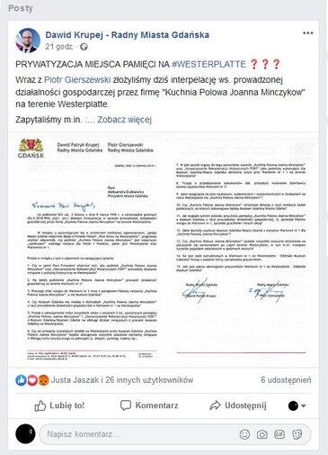O prywatyzacji Miejsca Pamięci bezpodstawnie mówią gdańscy radni.JPG preview