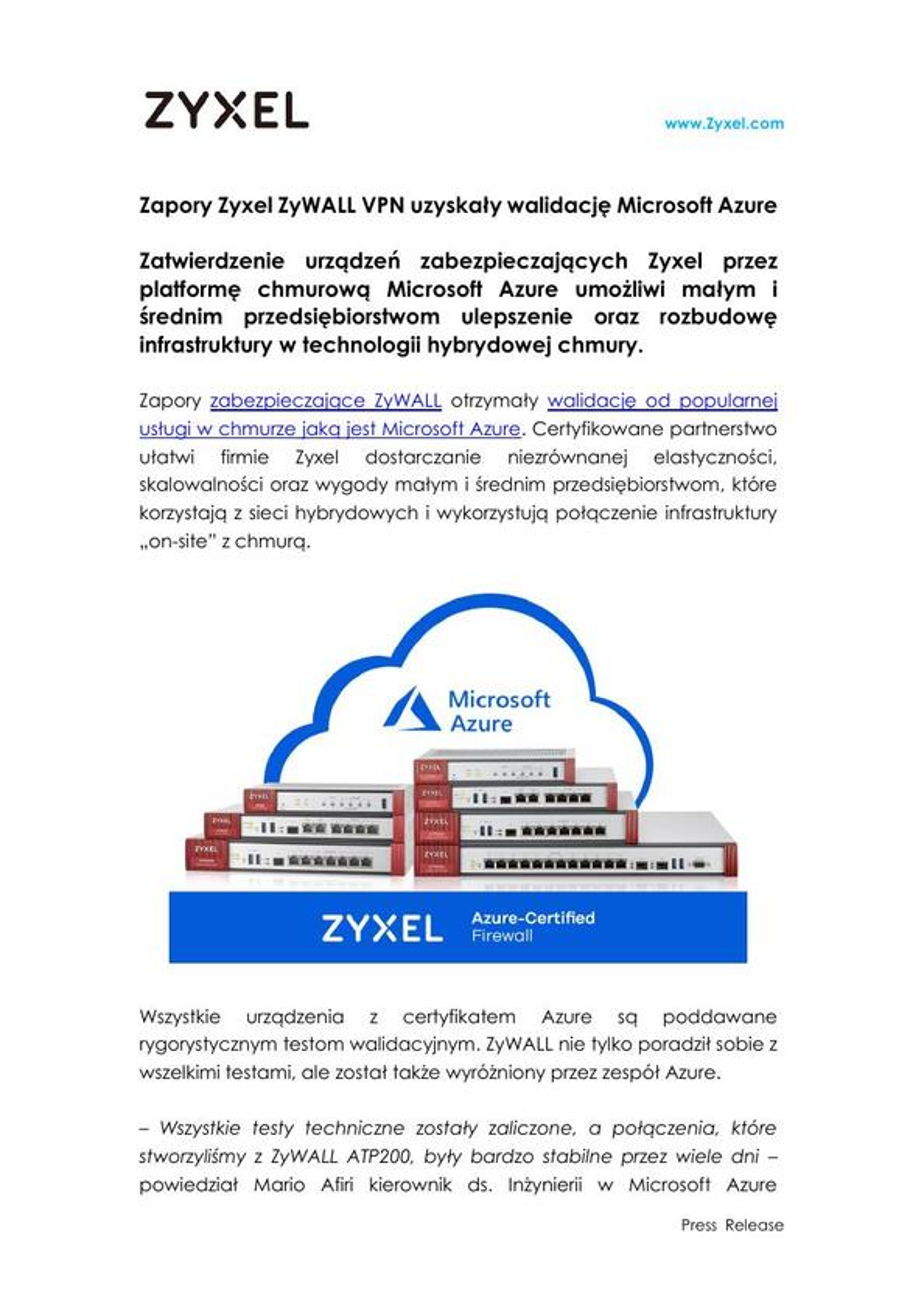 Zyxel PR_Microsoft Azure ZyWALL_PL_30_07_2019.pdf
