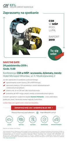 EFL zaproszenie CSRwMSP