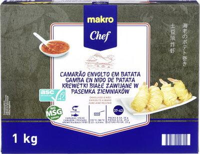 MAKRO Chef - Krewetki białe zawijane w pasemka ziemniaków.jpg
