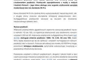 Zyxel Networks_ PR_Nowy zarządzalny przełącznik typu smart z serii XS1930.pdf