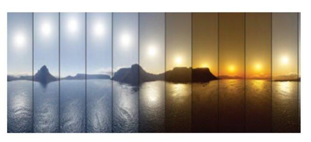 zmiana temperatury barwowej słońca