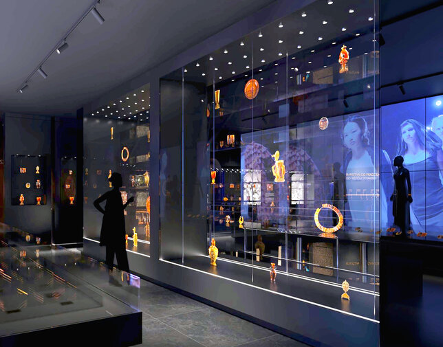 Widok na wysatwę o sztuce współczesnej w nowym Muzeum Bursztynu, aut. Anna Bocek, mat. Muzeum Gdańsk preview