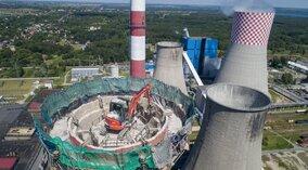 Nieczynny komin Elektrowni Łagisza zostanie wyburzony [wideo]