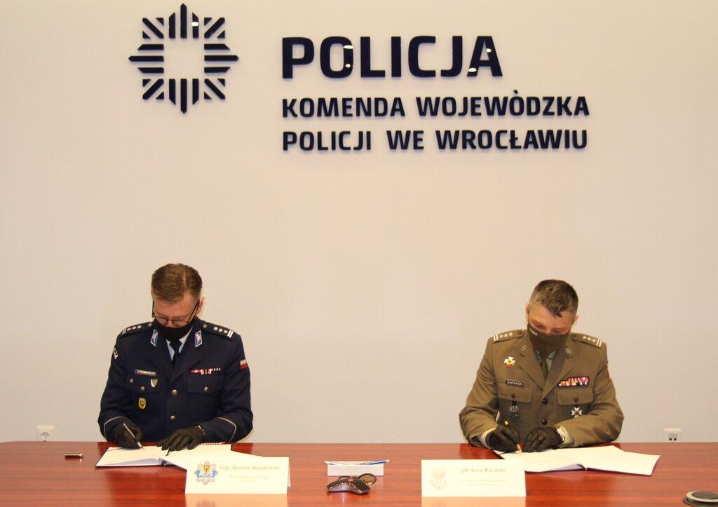 Terytorialsi podpisali porozumienie z dolnośląską Policją