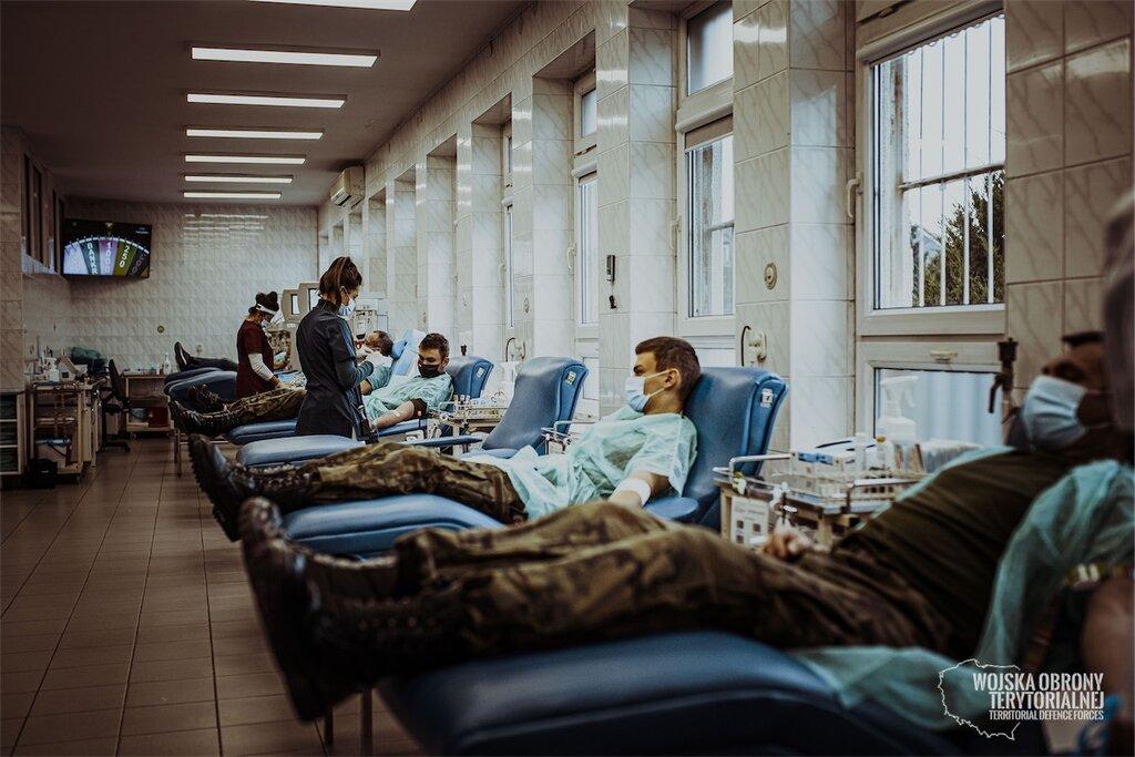 Terytorialsi oddają krew