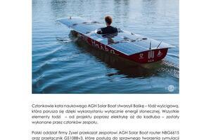 Zyxel-Networks PR Zyxel-wspiera-AGH-Solar-Boat-Team