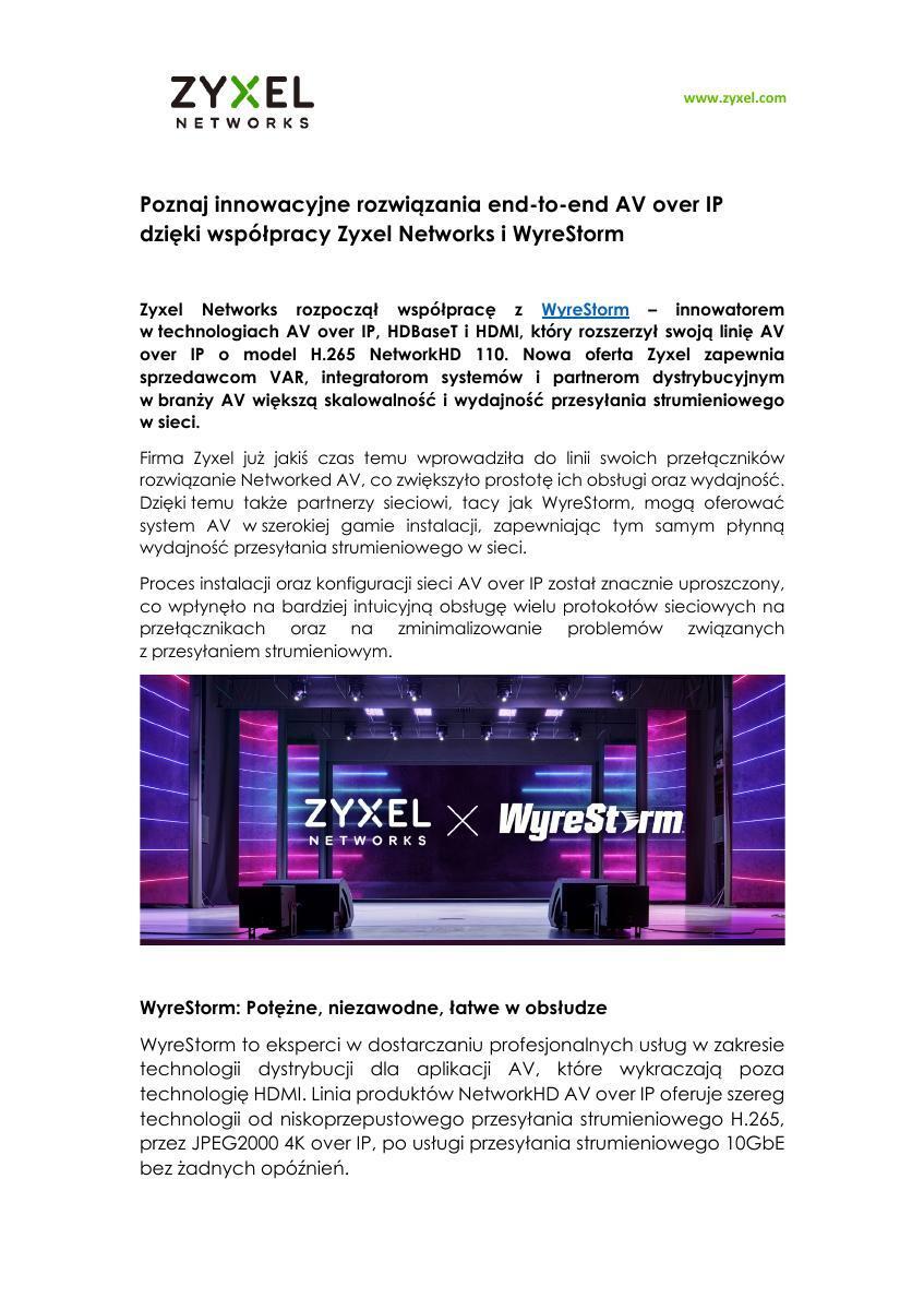Zyxel Networks i WyreStorm 29032021