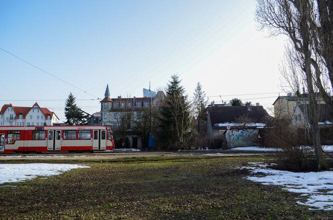 Na zdj. pętla tramwajowa w Oliwie
