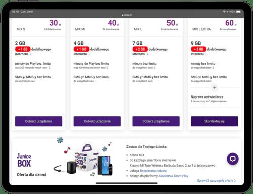 Nowa oferta Play – MIX z dodatkowymi gigabajtami w prezencie (3)