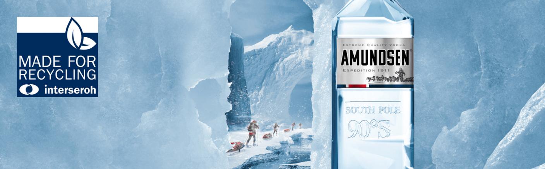 """Amundsen Vodka o pojemności 700ml ze znakiem jakości """"Made for Recycling"""""""