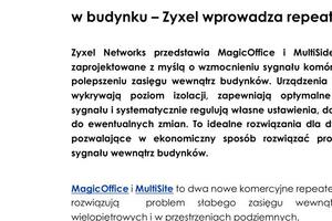 Zyxel PR DAS MagicOffice and MultiSite Repeaters v1 3 final PL