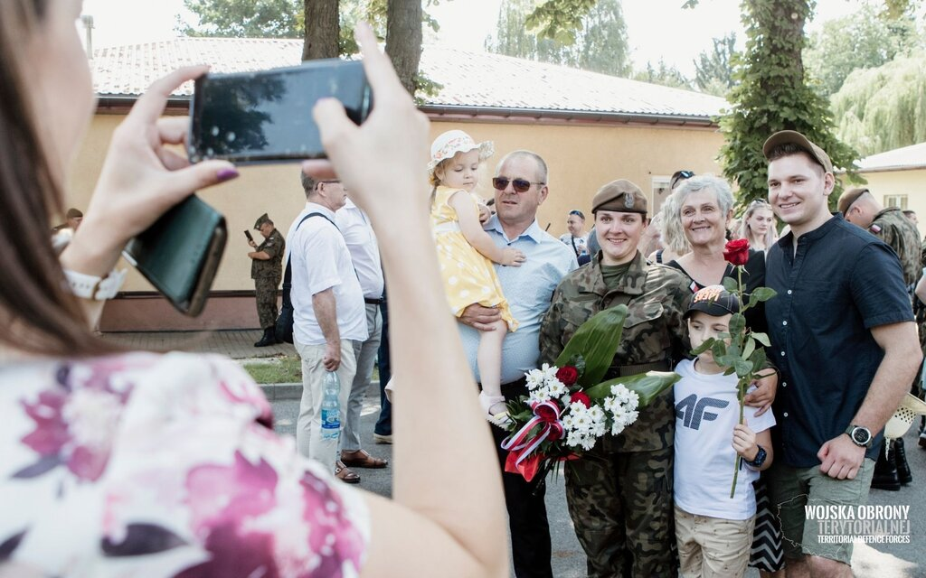 Przysięga żołnierzy 10ŚBOT w Sandomierzu