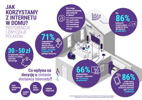 Infografika Badanie preferencji i zwyczajów użytkowników internetu w Polsce