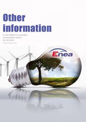 Other information to the ENEA extended consolidated report for Q 4 2011