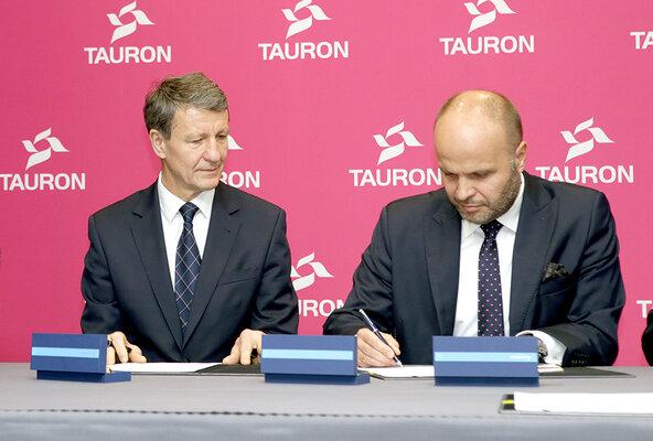 Minister A. Czerwiński oraz prezes TAURONA Jerzy Kurella.JPG