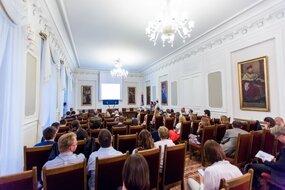 Wnętrze Sali Senatu Uniwersytetu Warszawskiego