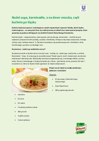 Nudel Zupa Karminadle A Na Deser Moczka Czyli Kuchnia Po
