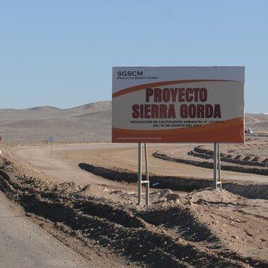 Kopalnia odkrywkowa Sierra Gorda w Chile