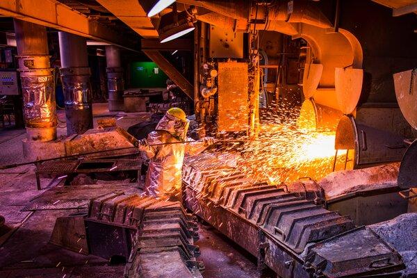 La planta metalúrgica de Głogów