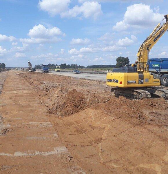 Postęp prac na budowie A1 Tuszyn - Piotrków Trybunalski