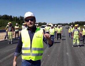 #gaszynchallenge BUDIMEX na budowie s14 - Zachodnia Obwodnica Łodzi