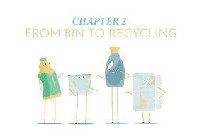 Droga z kosza do recyklingu  Co dzieje się z odpadami z plastiku które segregujesz? Śledź Marka podczas wizyty w centrum sortowania, gdzie wyjaśnia, dlaczego właściwe sortowanie jest tak ważne dla prawidłowego procesu recyklingu.  Prawa autorskie należą do Plastics Recyclers Europe