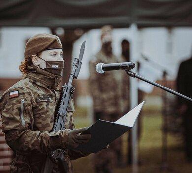 Przysięga żołnierzy 7 Pomorskiej Brygady OT w Słupsku