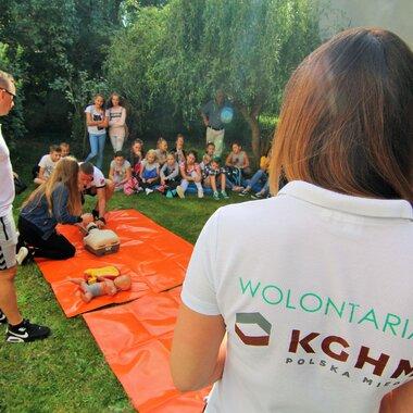 Wolontariat KGHM - nauka pierwszej pomocy