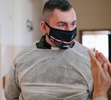Ksiądz ppor. Mateusz Kubiak, ochotnik, 12 Wielkopolskiej Brygady OT