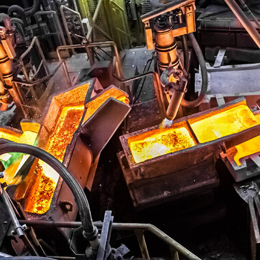 Legnica Copper Smelter and rafinery - anode rotary-casting-refining furnace