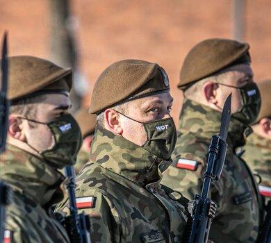 Przysięga żołnierzy 7 Pomorskiej Brygady OT