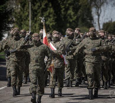 Przysięga wojskowa w 5 Mazowieckiej Brygadzie OT (24.04.2021)